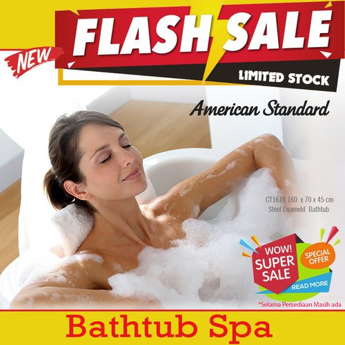 Flash Sale Bathtub American Standard  160 cm steel enameld