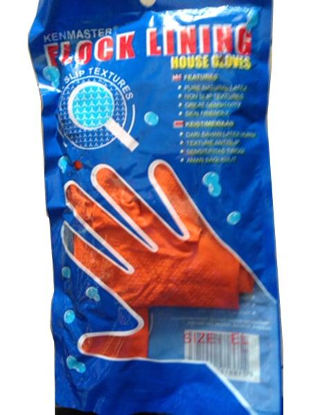 KENMASTER Sarung Tangan Karet Orange L