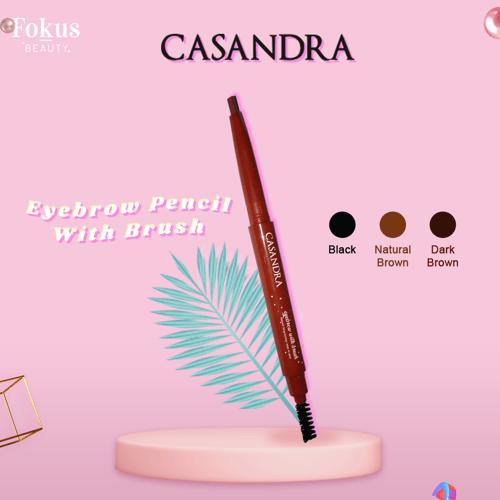 Casandra Eyebrow Pencil With Brush-Black