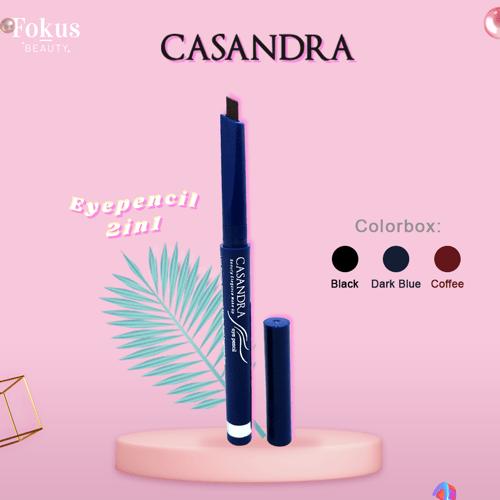 Casandra Eye pencil 2in1-Black