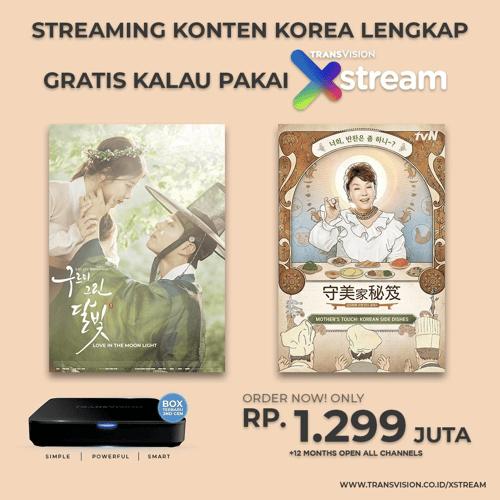 Android Box Transvision XSTREAM 2nd Gen - Paket 12 Bulan Full