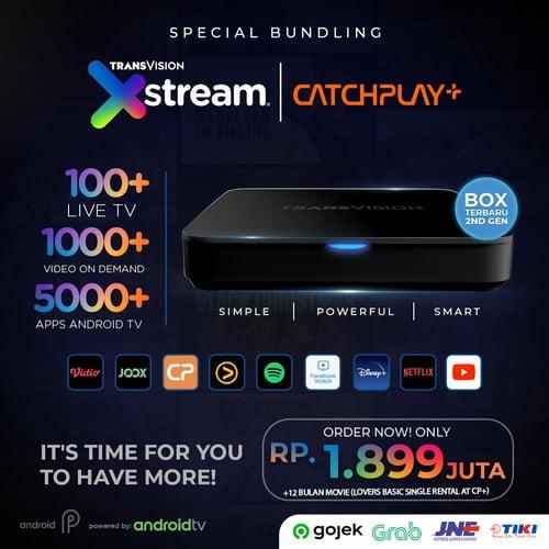 Android TV Box AML 905X2 2GB RAM + Catchplay 12 Bulan