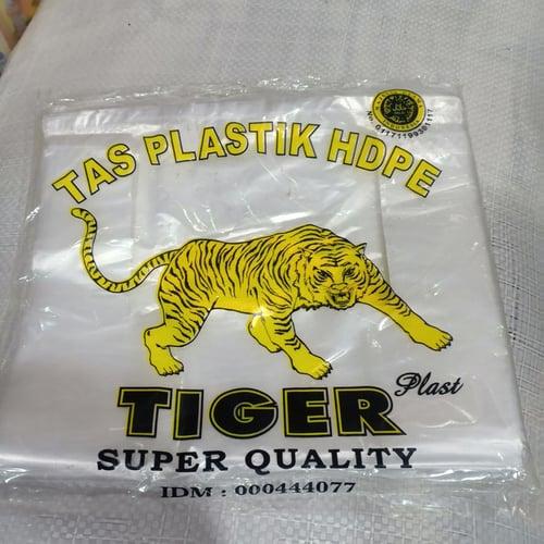 1 pack Kantong Plastik Tiger 28 BENING putih - kresek putih uk 28