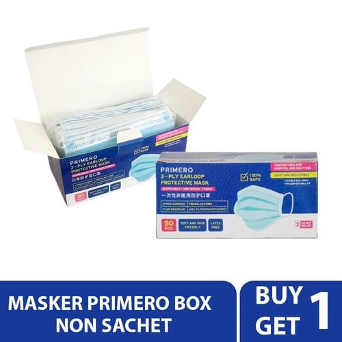 Buy 1 Get 1 - Primero Masker Medis 3 Ply Non Sachet (1box-50 pcs)