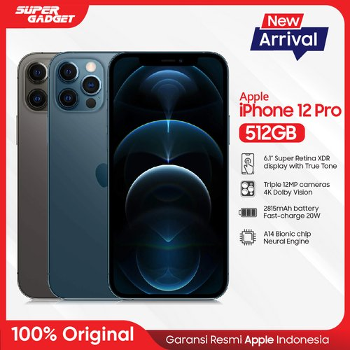 Apple iPhone 12 PRO Smartphone 512GB Silver - Garansi Resmi