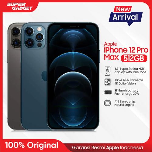 Apple iPhone 12 PRO MAX Smartphone 512GB - Garansi Resmi