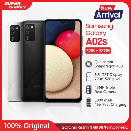 Samsung Galaxy A02s 3GB/32GB Black - Garansi Resmi