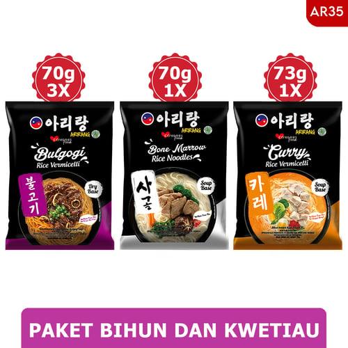 ARIRANG Bulgogi Rice Vermicelli 3pcs Free 1pc Curry+1pc Sumsum (AR35)