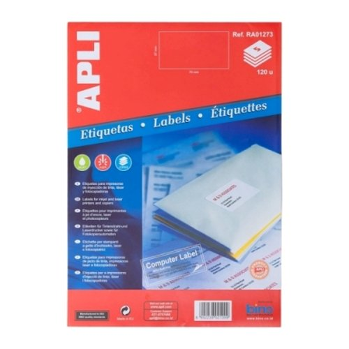 APLI Label White Paper 37 X 70MM RA01273 120 unit