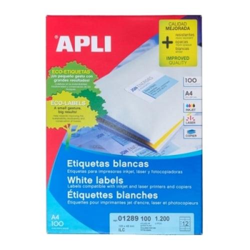 APLI Label White Paper 105 X 48MM 01289 1200 unit