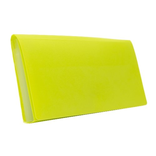 BANTEX Expanding File Cheque 6 Pockets Lime 8810 65