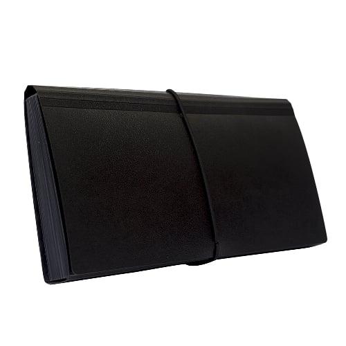 BANTEX Expanding File Cheque 12 Pockets Black 8811 10