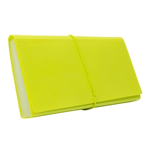 BANTEX Expanding File Cheque 12 Pockets Lime 8811 65