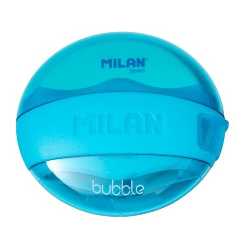 MILAN Pencil Sharpener and Eraser Bubble 47041 Blue