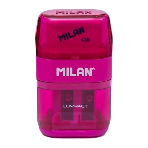 MILAN Sharpener Plus Eraser Compact 47031 Pink