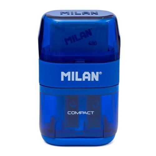 MILAN Sharpener Plus Eraser Compact 47031 Blue