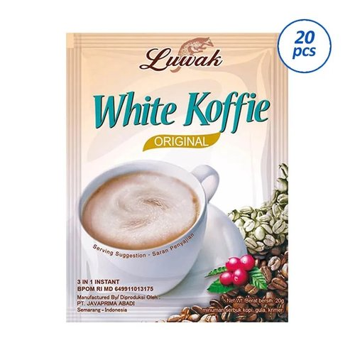 Luwak White Koffie Original 10x20gr - 20 pcs Carton