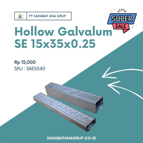 Hollow Galvalum SE 15x35x0.25