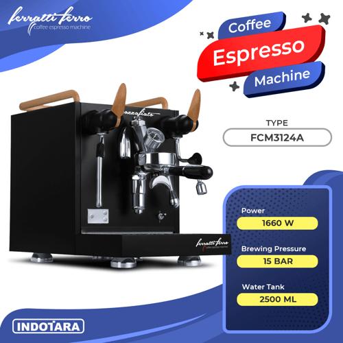 Mesin Kopi Espresso / Espresso Machine Ferratti Ferro FCM3124A Mozzafiato - Black