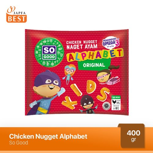 Nugget Ayam Alphabet So Good 400 gr