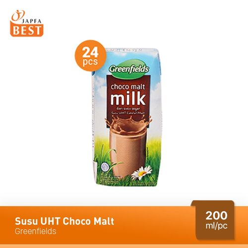 Susu UHT Choco Malt Greenfields 200 ml - Isi 24 pcs