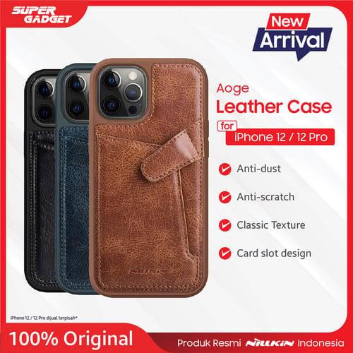 Leather Case Aoge Nillkin Iphone 12/Iphone 12 Pro Brown - Original
