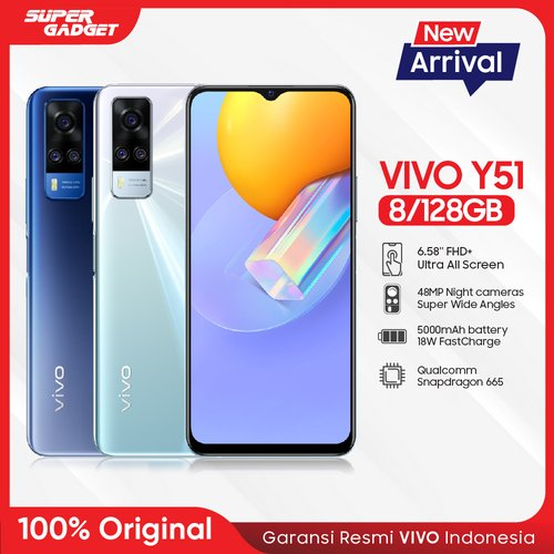 Vivo Y51 Smartphone 8GB 128GB Titanium Sapphire - Garansi Resmi