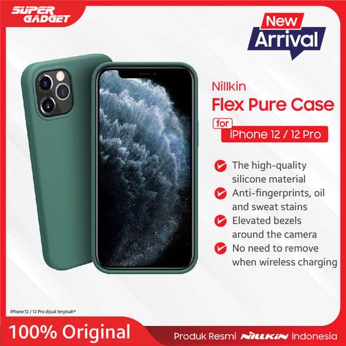 Casing Iphone 12/Iphone 12 Pro NILLKIN Flex Pure CASE Black - Original
