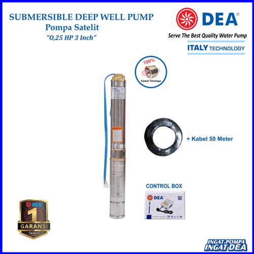 Pompa Satelit DEA 0.25 HP 3 Inc (Submersible Pump) - Noril
