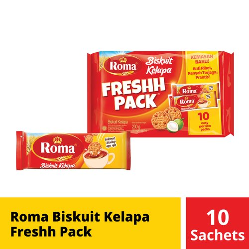 Roma Biskuit Kelapa Freshh Pack 23 Gr