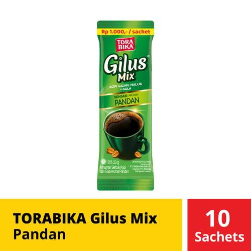 Torabika Gilus Mix Pandan 10 Sachets 23 Gr