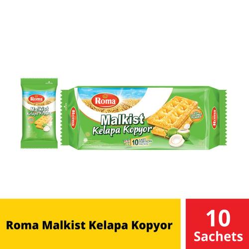Roma Malkist Kelapa Kopyor 10 Sachets 19 Gr