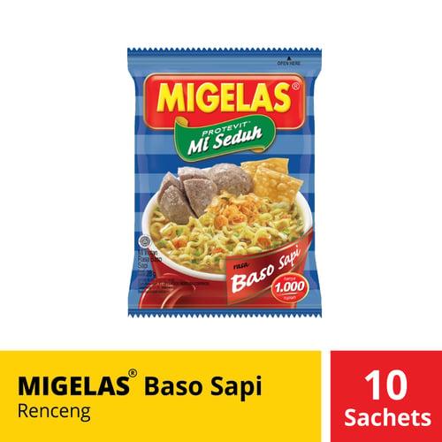 Migelas Baso Sapi Renceng 10 Sachets 28 Gr