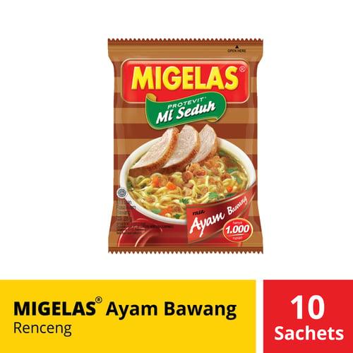 Migelas Ayam Bawang Renceng 10 Sachets 28 Gr