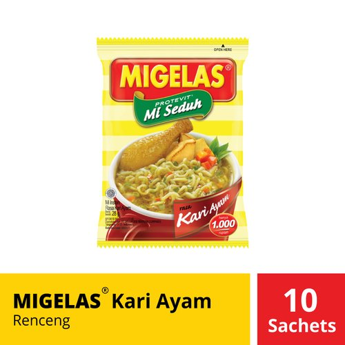 Migelas Kari Ayam Renceng 10 Sachets 28 Gr