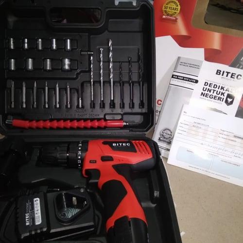 Mesin Bor Baterai Hammer Beton cordless BITEC drill