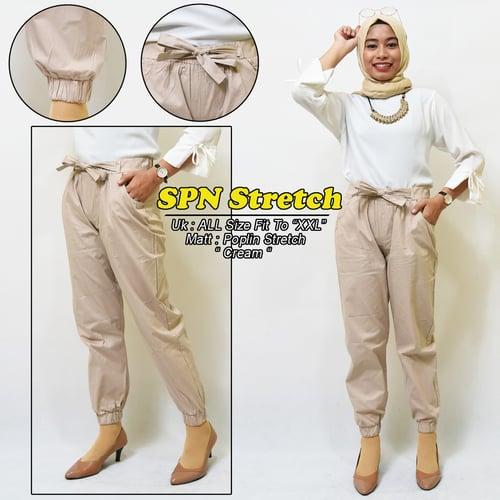 Celana panjang wanita Basic premium - JOGER SPN STREET - BAWAHAN BAHAN POPLIN PREMIUM