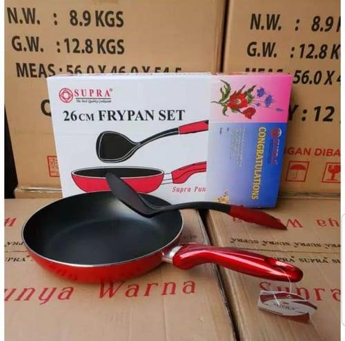 Green99 Store  FRY PAN SUPRA / 26CM / FREE SODET / TEPLON