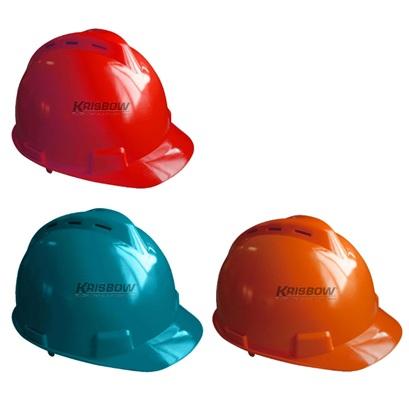 Helm Helmet Front Brim Vented Red-Green-Orange Krisbow KW1000443