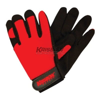 Sarung Tangan Work Glove M Black & Red Leather Krisbow KW1000239