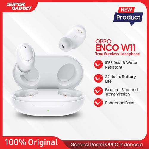 OPPO Enco W11 True Wireless headphones Bluetooth 5.0 Tahan Debu dan Air ( Earbud ) Original Oppo