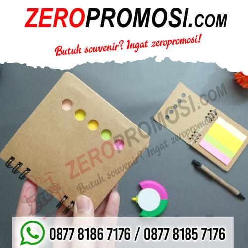 Souvenir Promosi Notebook Mini + Post It N812 Custom Cetak Logo