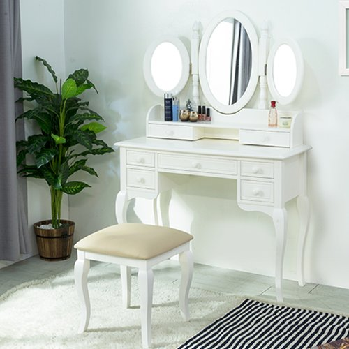 Ebonia - Rose Cosmetic table Putih