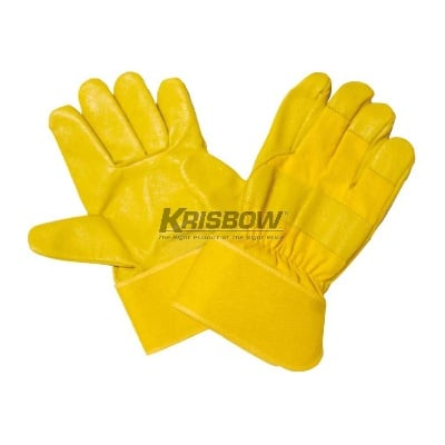 Sarung Tangan Work Glove 10IN Golden & Yellow Leather Krisbow KW1000241