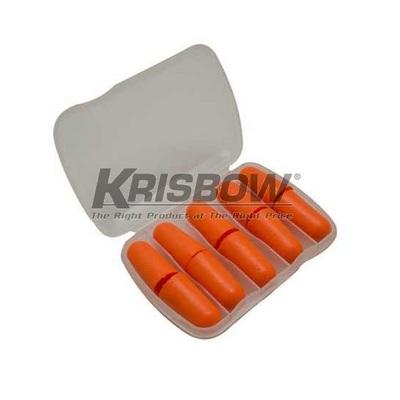 Penutup Telinga Ear Plug PU Foam 5 Pair With Case Orange Krisbow 10121916
