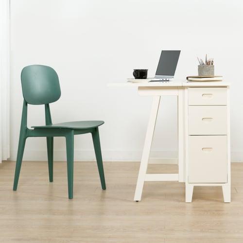 Ebonia - NABI Meja Lipat Kecil - Putih