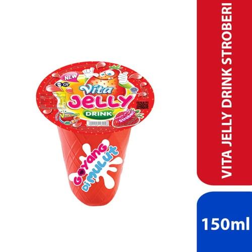 Vita Jelly Drink - Stroberi 150ml - 1 Karton Isi 24 Pcs