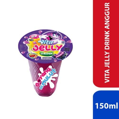 Vita Jelly Drink - Anggur 150ml - 1 Karton Isi 24 Pcs