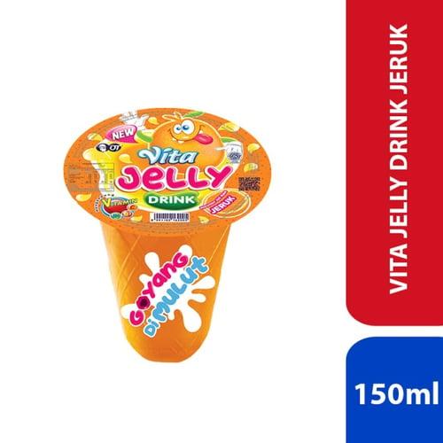 Vita Jelly Drink - Jeruk 150ml - 1 Karton Isi 24 Pcs