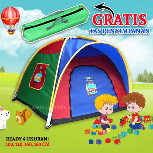 Tenda Anak  ukuran 120 x 120 CM / Tenda Camping Anak / Tenda Anak Karakter / Tenda Lipat / tenda mainan anak / tenda anak murah / tenda 4 Orang / tenda 6 Orang